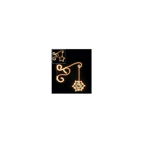 Light Up Star Wall Bracket Set of 2
