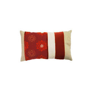 Photo of Tesco Embroidered Floral Cushion Red Cushions and Throw