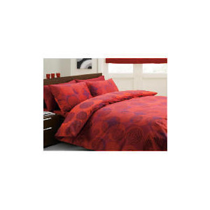 Photo of Tesco Swirls Print Duvet Set King, Red Bed Linen