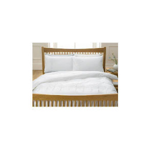 Photo of Tesco Sycamore Embroidered Duvet Set King, White Bed Linen