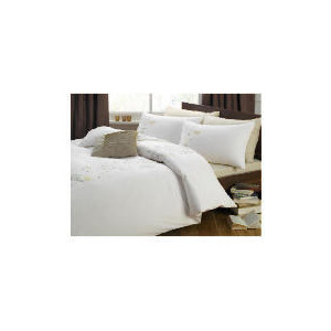 Photo of Tesco Fay Embroidered Duvet Set Double, Ivory Bed Linen