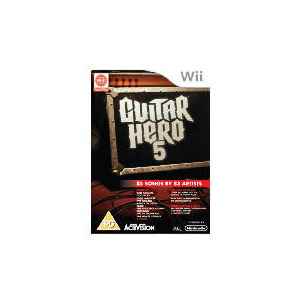 Photo of Guitar Hero 5 - Game Only (Wii) Video Game