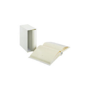 Photo of Tesco Leather Boxed Memo Album Cream 7X5 2PK Photo Album