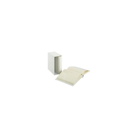 Tesco Leather Boxed Memo Album Cream 7x5 2pk