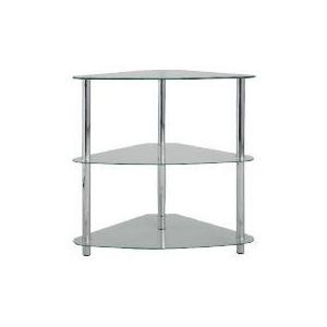 Photo of Mercury 3 Shelf Corner Bookcase, Clear Glass Furniture