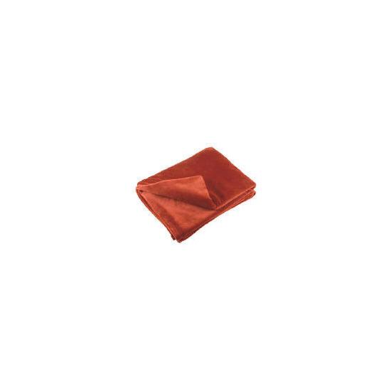 Tesco Supersoft Throw, Cinnamon