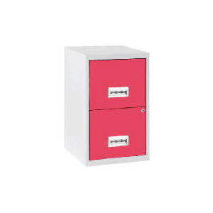 Photo of 2 Drawer White & Pink Filing Cabinet Maxi Home Miscellaneou