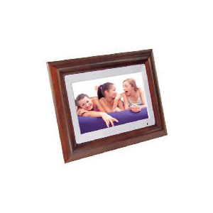 "Photo of Luminox 10"" Hardwood Digital Photo Frame With Touch Panel Controls Digital Photo Frame"