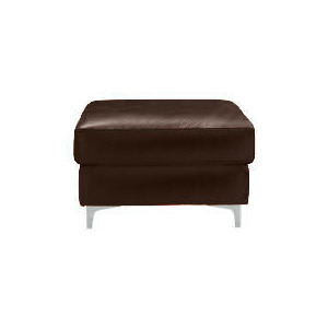 Photo of Westport Leather Footstool, Chocolate Furniture