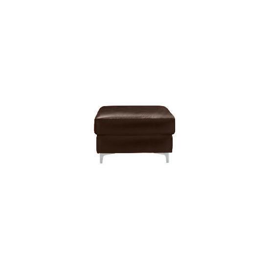 Westport Leather Footstool, Chocolate