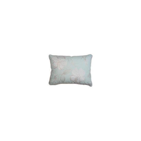 Tesco Libre Embroidered Cushion, Aqua