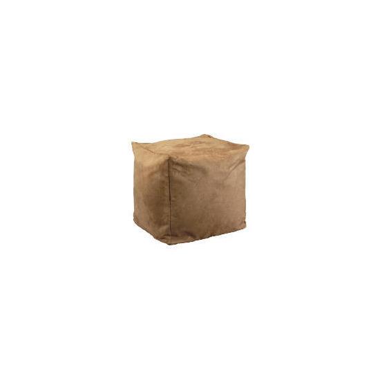 Bean Cube Faux Suede, Caramel 45x45