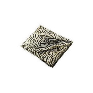 Photo of Tesco Faux Fur Zebra Throw Grey Furniture