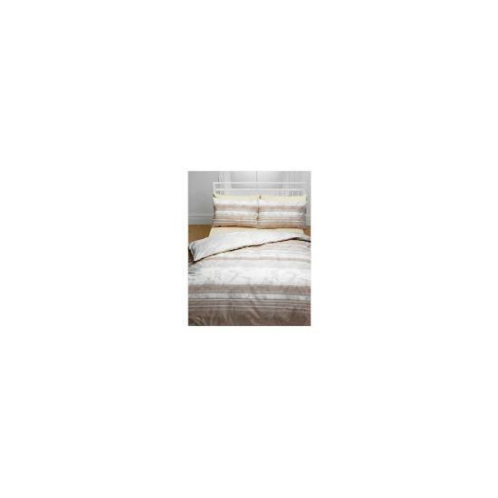 Tesco Grace Print Duvet Set Kingsize, Natural