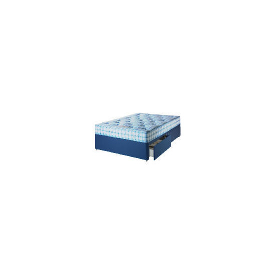 Camborne Non-Storage Small Double Divan Set With Trizone Mattress