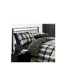 Tesco Geo Print Duvet Set King, Black Reviews