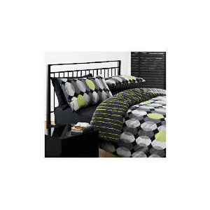 Photo of Tesco Geo Print Duvet Set King, Black Bed Linen