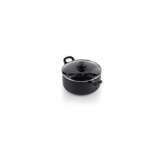 Tesco Aluminium Non Stick Stockpot 24cm Black
