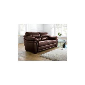 Photo of Avignon Large Leather Sofa, Chocolate Furniture