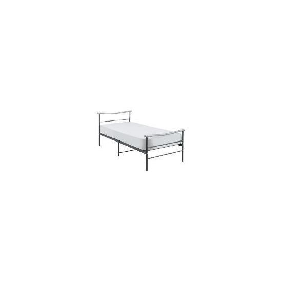 Coruna Single Bed Frame, Silver/Grey Effect Finish