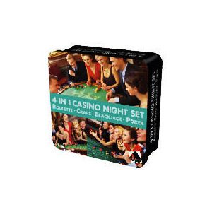 Photo of 4-In-1 Casino Night Set Board Games and Puzzle