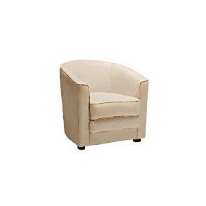 Photo of Miami Faux Suede Tub Chair, Natural Furniture