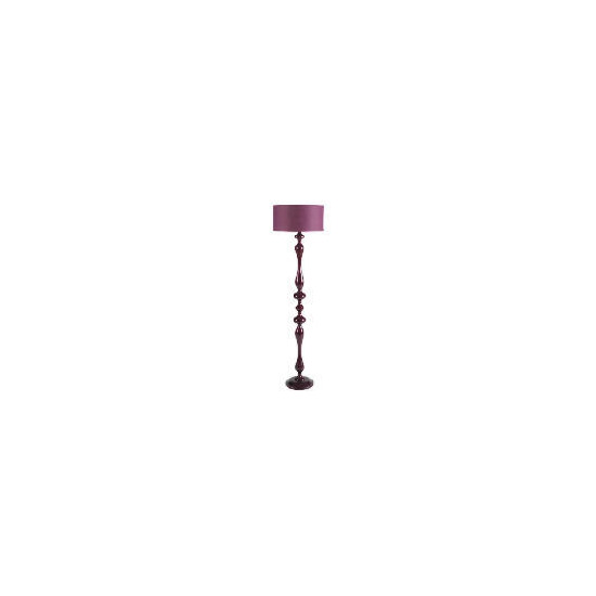 Tesco Spindle Floor Lamp, Plum