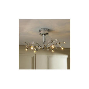 Photo of Tesco Chrome Leaf Ceiling Fitting Lighting