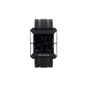 Photo of FENCHURCH BLACK RUBBER DIGI WATCH/BAG Jewellery Woman