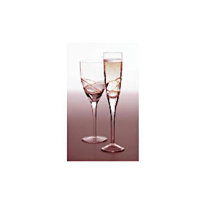 Photo of Tesco Drizzle Wine Glass Gold, 4 Pack Dinnerware