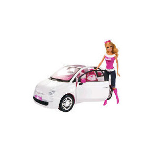 Photo of Barbie Doll & Fiat Car Toy