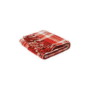 Photo of Tesco Check Throw Red 130X170CM Cushions and Throw
