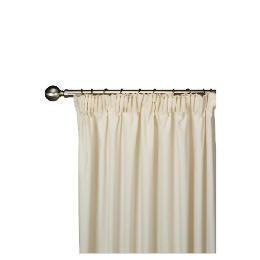 Tesco Plain Canvas Unlined Pencil Pleat Curtain 229x183cm, Natural Reviews