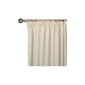Photo of Tesco Plain Canvas Unlined Pencil Pleat Curtain 229X183CM, Natural Curtain
