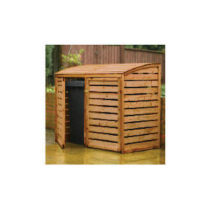 Photo of Wooden Double Bin Store Shed