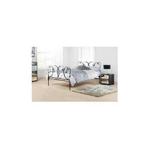 Photo of Mataro Double Bed Frame, Black Textured Finish Bedding