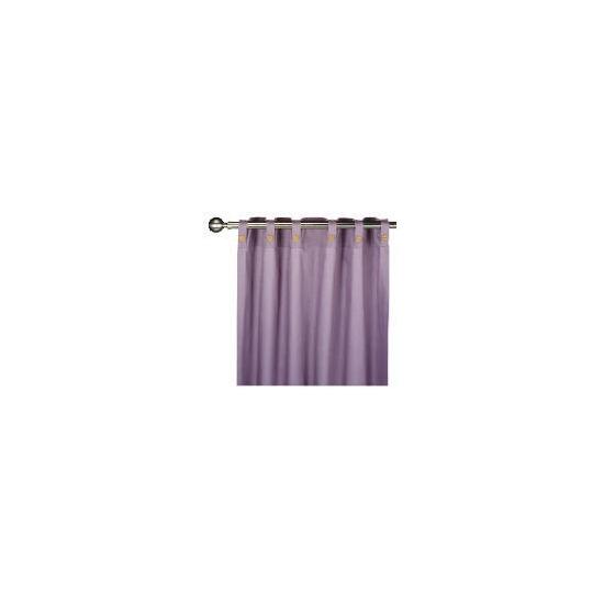 Tesco Plain Canvas Unlined Belt Top Curtain 229x229cm, Grape