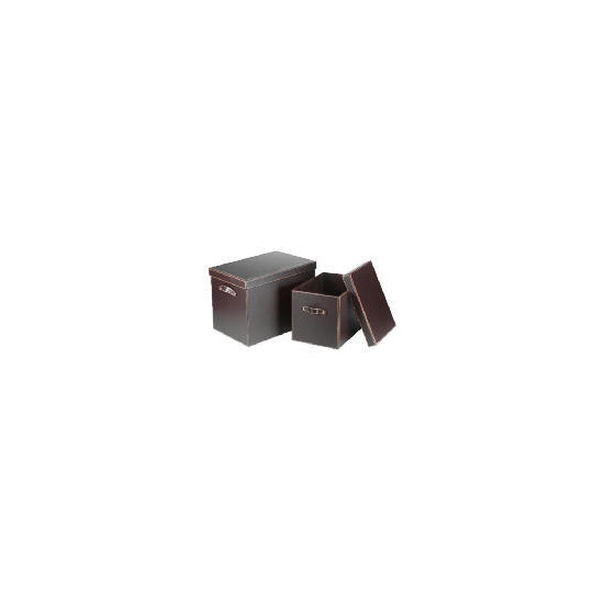 Tesco Faux Leather Trunks Set Of 2