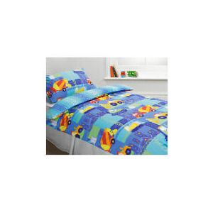 Photo of Kids Trucks & Diggers Printed Duvet Bed Linen