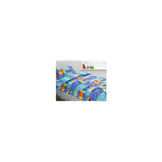 Kids Trucks & Diggers Printed Duvet
