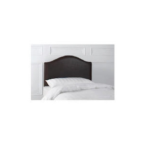 Photo of Laredo Single Faux Leather Headboard, Dark Brown Furniture