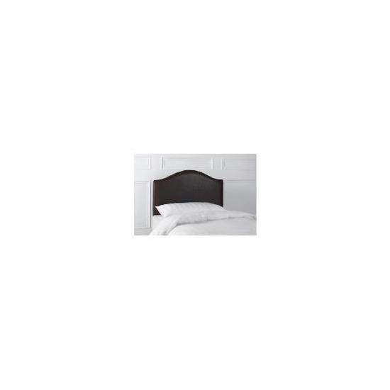 Laredo Single Faux Leather Headboard, Dark Brown