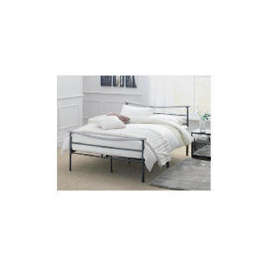 Photo of Coruna Double Bed Frame, Silver/Grey Effect Finish Bedding