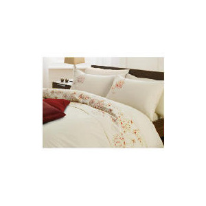 Photo of Tesco Marlborough Embroidered Duvet Set King, Stone Bed Linen