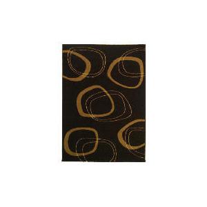 Photo of Tesco Patina Double Circles Rug 120X170CM Chocolate Rug