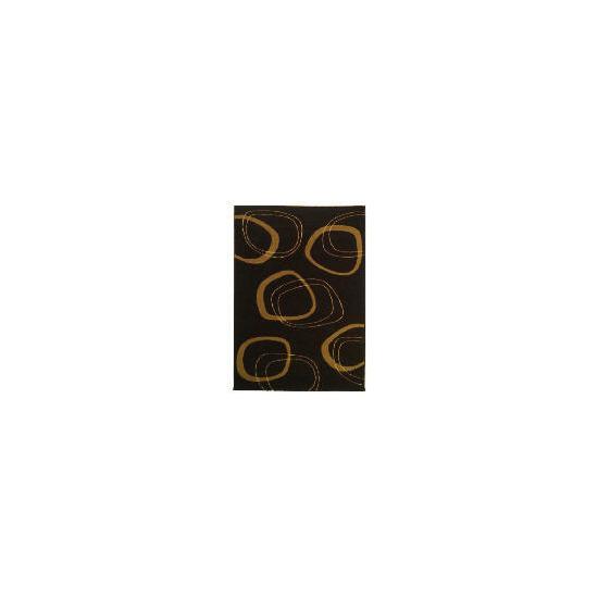 Tesco Patina Double Circles Rug 120x170cm Chocolate