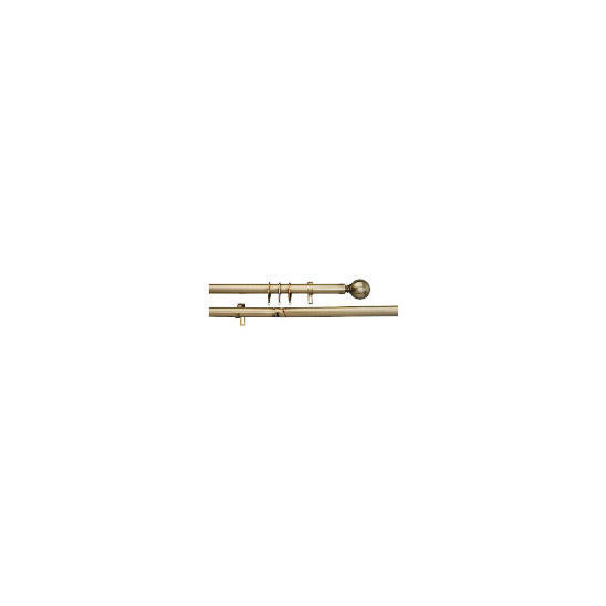 Bay Window Pole Kit Brass