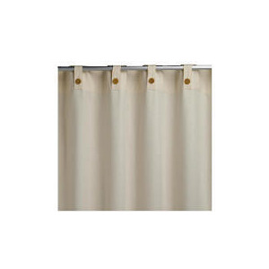 Photo of Tesco Plain Canvas Unlined Belt Top Curtain 229X229CM, Natural Curtain