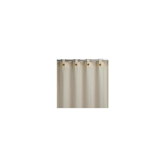 Tesco Plain Canvas Unlined Belt Top Curtain 229x229cm, Natural