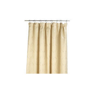 Photo of Tesco Metallic Jacquard Lined Pencil Pleat 229X229, Cream Curtain
